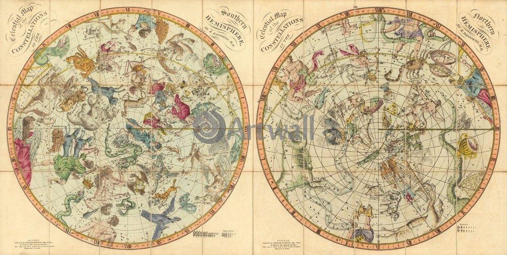 Постер Старинные звездные атласы Карта созвездийСтаринные звездные атласы<br>Постер на холсте или бумаге. Любого нужного вам размера. В раме или без. Подвес в комплекте. Трехслойная надежная упаковка. Доставим в любую точку России. Вам осталось только повесить картину на стену!<br>