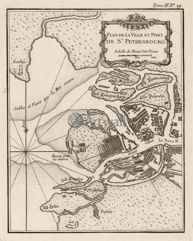Постер Города и карты План Петербурга, 20x25 см, на бумагеСанкт-Петербург - старинные карты<br>Постер на холсте или бумаге. Любого нужного вам размера. В раме или без. Подвес в комплекте. Трехслойная надежная упаковка. Доставим в любую точку России. Вам осталось только повесить картину на стену!<br>