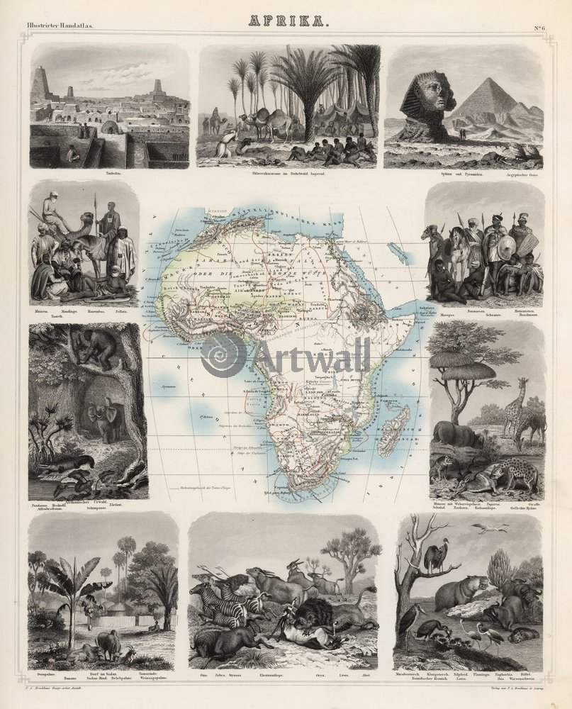 Постер Старинные карты АфрикаСтаринные карты<br>Постер на холсте или бумаге. Любого нужного вам размера. В раме или без. Подвес в комплекте. Трехслойная надежная упаковка. Доставим в любую точку России. Вам осталось только повесить картину на стену!<br>