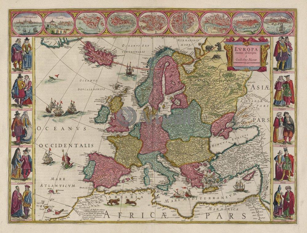 Старинные карты, картина ЕвропаСтаринные карты<br>Репродукция на холсте или бумаге. Любого нужного вам размера. В раме или без. Подвес в комплекте. Трехслойная надежная упаковка. Доставим в любую точку России. Вам осталось только повесить картину на стену!<br>