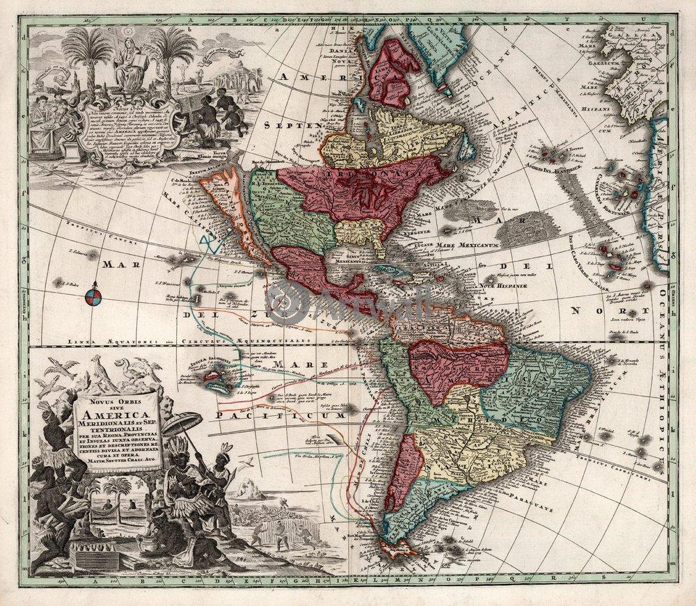 Старинные карты, картина Северная и Южная АмерикаСтаринные карты<br>Репродукция на холсте или бумаге. Любого нужного вам размера. В раме или без. Подвес в комплекте. Трехслойная надежная упаковка. Доставим в любую точку России. Вам осталось только повесить картину на стену!<br>