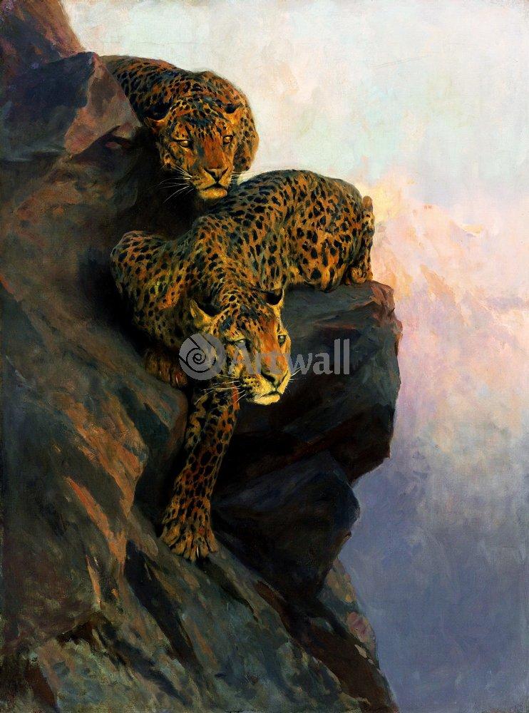 Животные, картина Артур Вардль «Барсы»Животные<br>Репродукция на холсте или бумаге. Любого нужного вам размера. В раме или без. Подвес в комплекте. Трехслойная надежная упаковка. Доставим в любую точку России. Вам осталось только повесить картину на стену!<br>