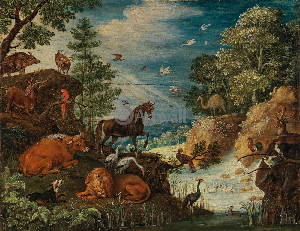 Животные, картина Роеланта Савери «Животные в пейзаже»Животные<br>Репродукция на холсте или бумаге. Любого нужного вам размера. В раме или без. Подвес в комплекте. Трехслойная надежная упаковка. Доставим в любую точку России. Вам осталось только повесить картину на стену!<br>