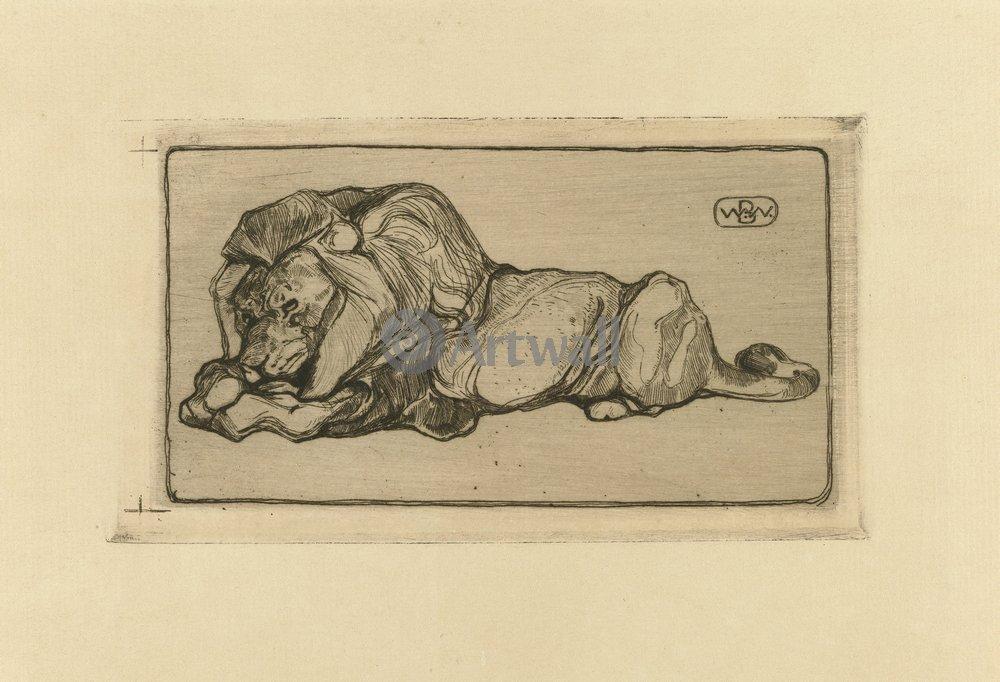 Животные, картина Бернард Виеринг «Лев»Животные<br>Репродукция на холсте или бумаге. Любого нужного вам размера. В раме или без. Подвес в комплекте. Трехслойная надежная упаковка. Доставим в любую точку России. Вам осталось только повесить картину на стену!<br>
