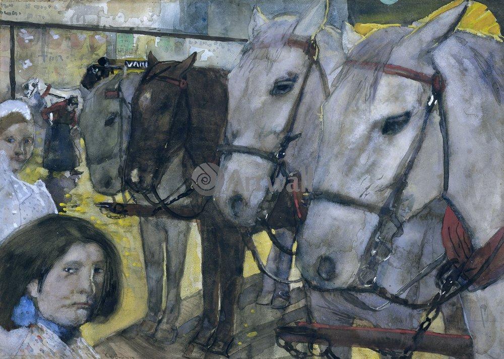Животные, картина Джордж Брайтнер «Лошади»Животные<br>Репродукция на холсте или бумаге. Любого нужного вам размера. В раме или без. Подвес в комплекте. Трехслойная надежная упаковка. Доставим в любую точку России. Вам осталось только повесить картину на стену!<br>