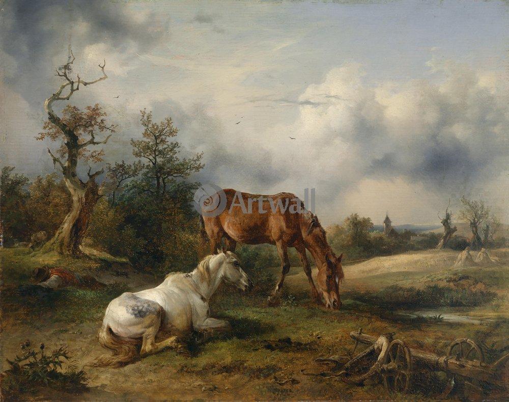 Животные, картина Фридрих Гауерман «Лошади»Животные<br>Репродукция на холсте или бумаге. Любого нужного вам размера. В раме или без. Подвес в комплекте. Трехслойная надежная упаковка. Доставим в любую точку России. Вам осталось только повесить картину на стену!<br>