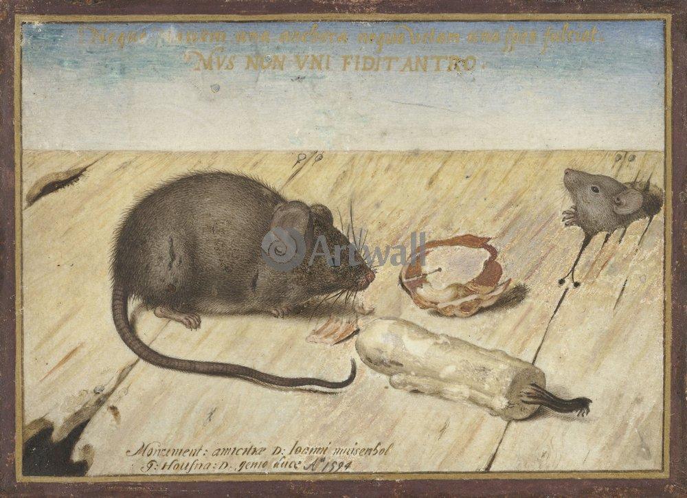 Животные, картина Йорис Хофнагель «Мыши»Животные<br>Репродукция на холсте или бумаге. Любого нужного вам размера. В раме или без. Подвес в комплекте. Трехслойная надежная упаковка. Доставим в любую точку России. Вам осталось только повесить картину на стену!<br>