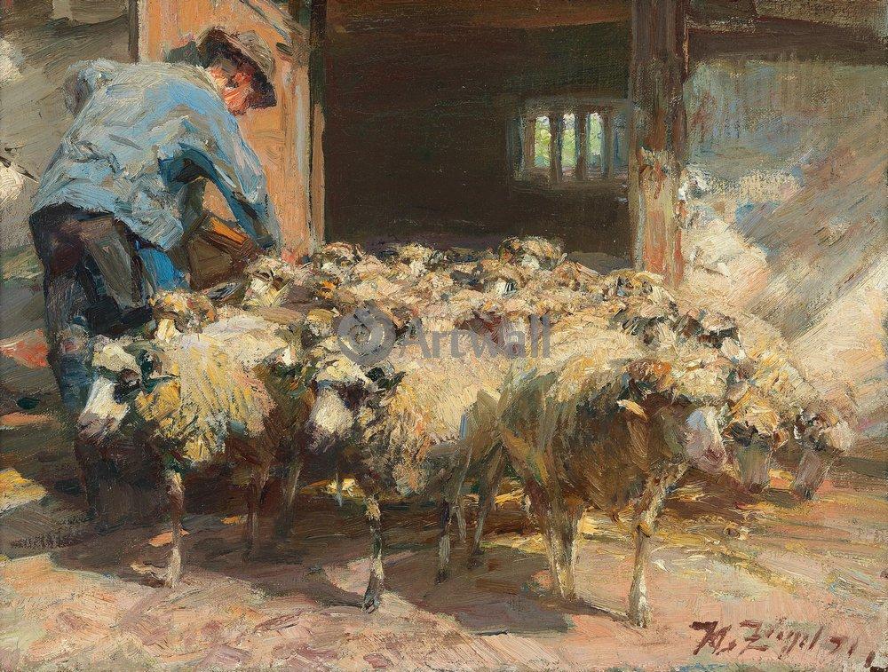 Животные, картина Генрих фон Зюдель «Овцы»Животные<br>Репродукция на холсте или бумаге. Любого нужного вам размера. В раме или без. Подвес в комплекте. Трехслойная надежная упаковка. Доставим в любую точку России. Вам осталось только повесить картину на стену!<br>