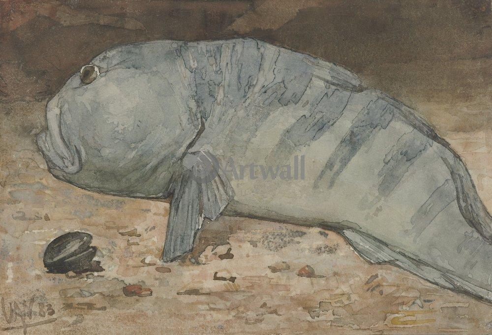 Животные, картина Виллем Витсен «Рыба»Животные<br>Репродукция на холсте или бумаге. Любого нужного вам размера. В раме или без. Подвес в комплекте. Трехслойная надежная упаковка. Доставим в любую точку России. Вам осталось только повесить картину на стену!<br>
