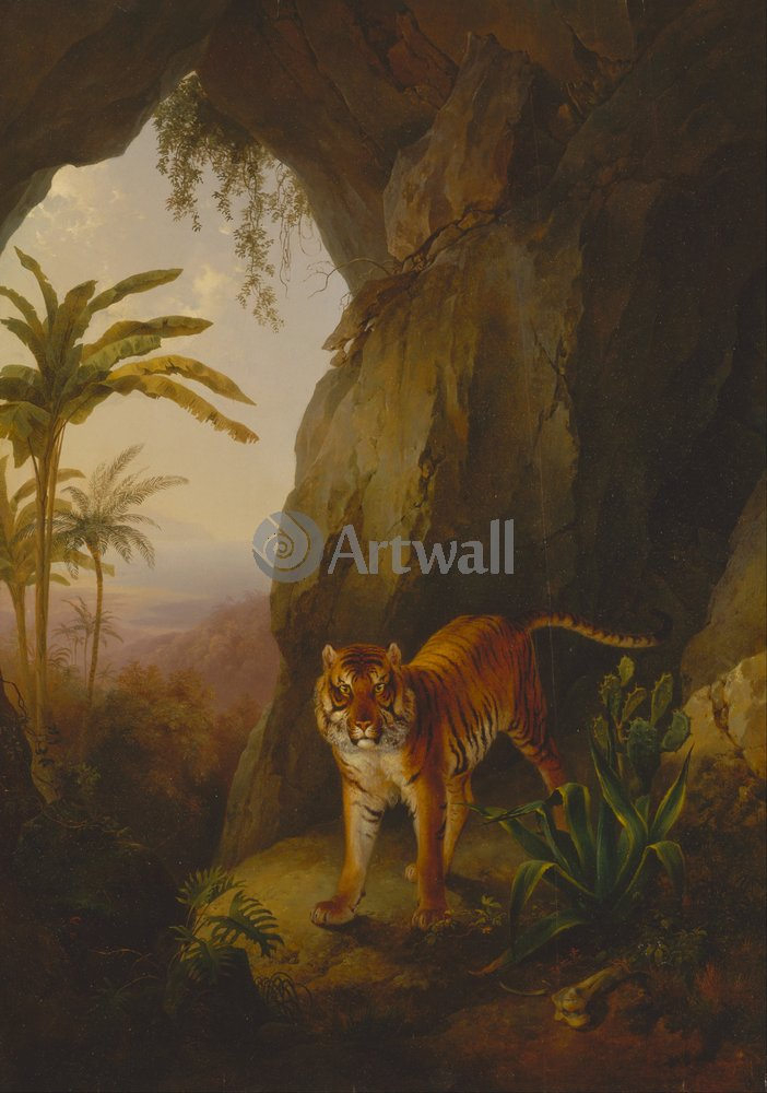 Животные, картина Жак-Лоран Агас «Тигр»Животные<br>Репродукция на холсте или бумаге. Любого нужного вам размера. В раме или без. Подвес в комплекте. Трехслойная надежная упаковка. Доставим в любую точку России. Вам осталось только повесить картину на стену!<br>
