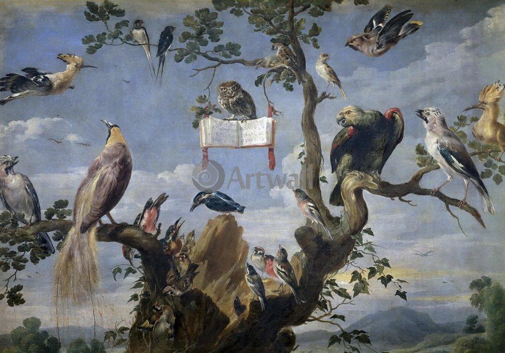 Птицы, картина Снайдерс «Птичий концерт»Птицы<br>Репродукция на холсте или бумаге. Любого нужного вам размера. В раме или без. Подвес в комплекте. Трехслойная надежная упаковка. Доставим в любую точку России. Вам осталось только повесить картину на стену!<br>