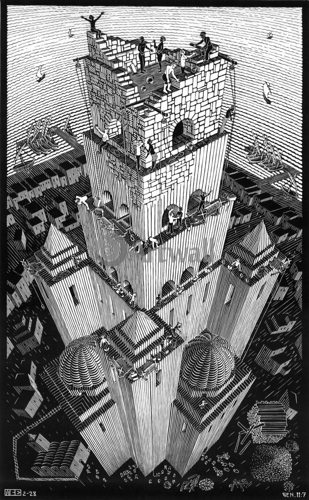 Эшер Мауриц Корнелис, картина Вавилонская башняЭшер Мауриц Корнелис<br>Репродукция на холсте или бумаге. Любого нужного вам размера. В раме или без. Подвес в комплекте. Трехслойная надежная упаковка. Доставим в любую точку России. Вам осталось только повесить картину на стену!<br>