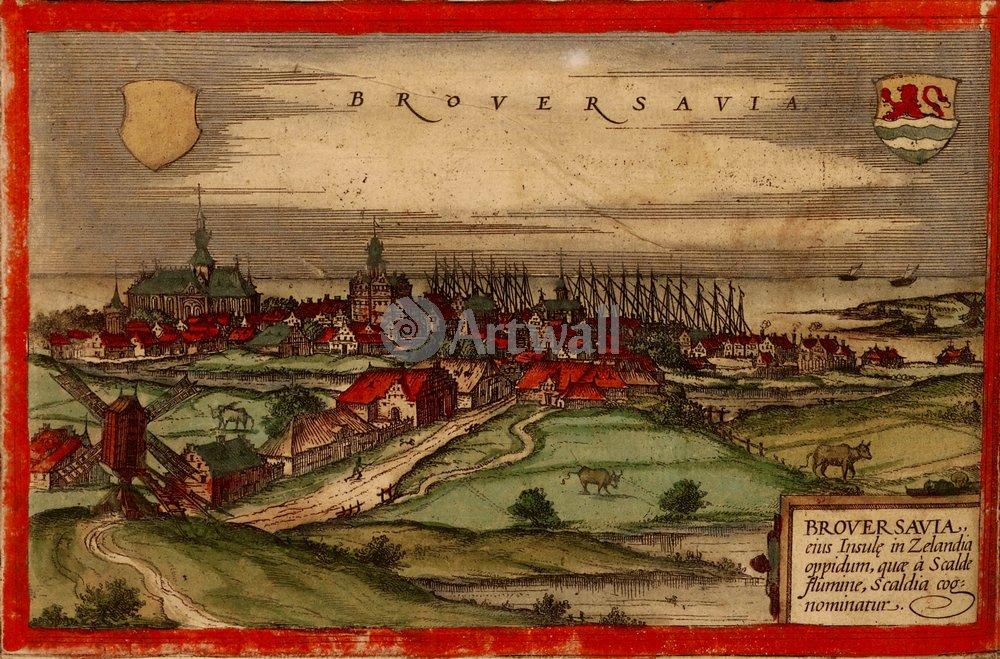 Карты старинных городов, картина БруверсхавенКарты старинных городов<br>Репродукция на холсте или бумаге. Любого нужного вам размера. В раме или без. Подвес в комплекте. Трехслойная надежная упаковка. Доставим в любую точку России. Вам осталось только повесить картину на стену!<br>