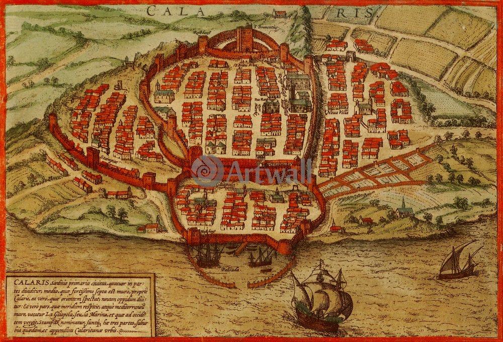 Карты старинных городов, картина КальяриКарты старинных городов<br>Репродукция на холсте или бумаге. Любого нужного вам размера. В раме или без. Подвес в комплекте. Трехслойная надежная упаковка. Доставим в любую точку России. Вам осталось только повесить картину на стену!<br>