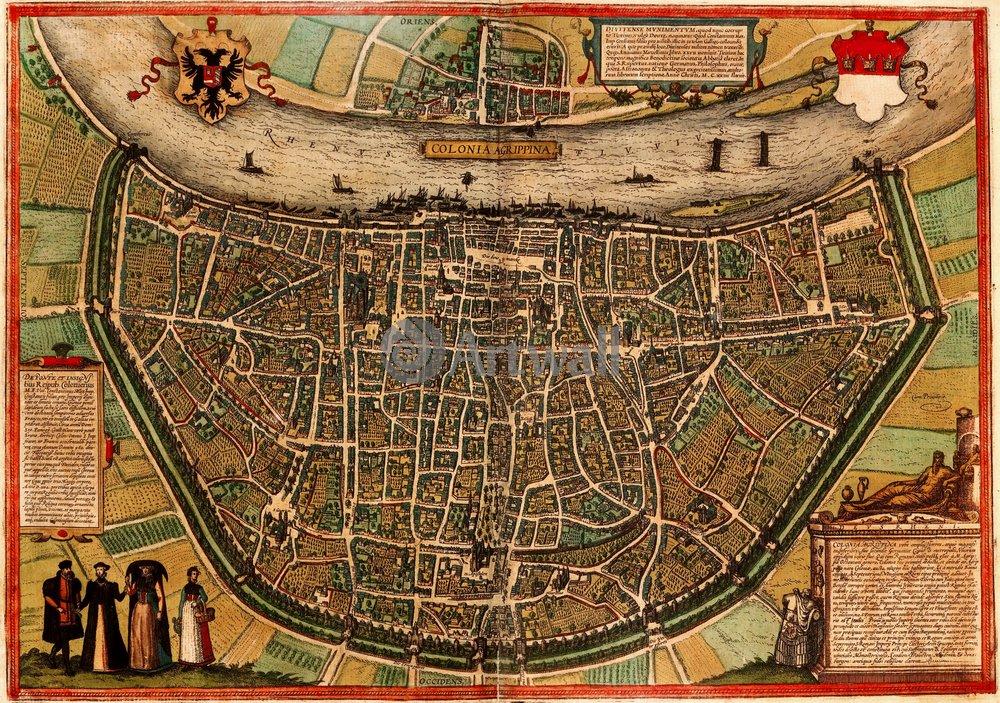 Карты старинных городов, картина КельнКарты старинных городов<br>Репродукция на холсте или бумаге. Любого нужного вам размера. В раме или без. Подвес в комплекте. Трехслойная надежная упаковка. Доставим в любую точку России. Вам осталось только повесить картину на стену!<br>