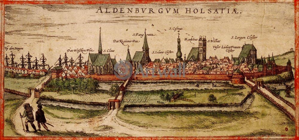 Карты старинных городов, картина ОльденбургКарты старинных городов<br>Репродукция на холсте или бумаге. Любого нужного вам размера. В раме или без. Подвес в комплекте. Трехслойная надежная упаковка. Доставим в любую точку России. Вам осталось только повесить картину на стену!<br>