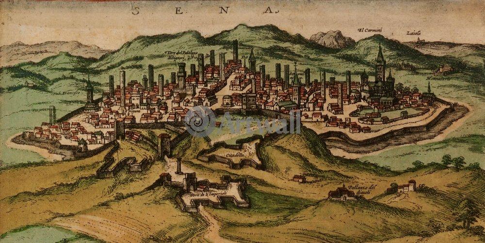 Карты старинных городов, картина СенаКарты старинных городов<br>Репродукция на холсте или бумаге. Любого нужного вам размера. В раме или без. Подвес в комплекте. Трехслойная надежная упаковка. Доставим в любую точку России. Вам осталось только повесить картину на стену!<br>