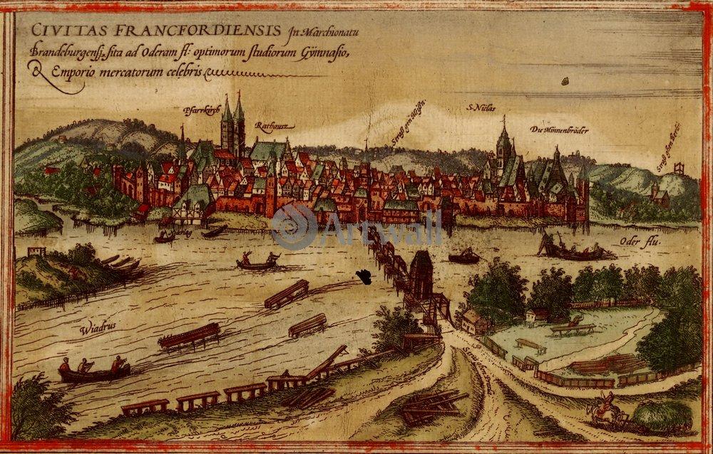 Карты старинных городов, картина ФранкфуртКарты старинных городов<br>Репродукция на холсте или бумаге. Любого нужного вам размера. В раме или без. Подвес в комплекте. Трехслойная надежная упаковка. Доставим в любую точку России. Вам осталось только повесить картину на стену!<br>