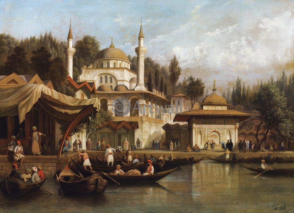Ориентализм, картина «Мечеть султана Михримаха в Стамбуле»Ориентализм<br>Репродукция на холсте или бумаге. Любого нужного вам размера. В раме или без. Подвес в комплекте. Трехслойная надежная упаковка. Доставим в любую точку России. Вам осталось только повесить картину на стену!<br>