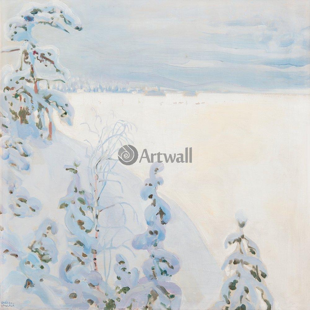 Пейзаж зимний Галлен-Калелла «Зимний пейзаж»Пейзаж зимний<br>Репродукция на холсте или бумаге. Любого нужного вам размера. В раме или без. Подвес в комплекте. Трехслойная надежная упаковка. Доставим в любую точку России. Вам осталось только повесить картину на стену!<br>