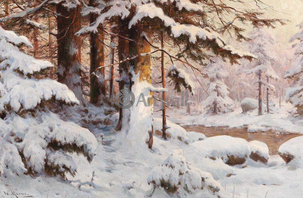 Пейзаж зимний Морас Вальтер «Зимний лес»Пейзаж зимний<br>Репродукция на холсте или бумаге. Любого нужного вам размера. В раме или без. Подвес в комплекте. Трехслойная надежная упаковка. Доставим в любую точку России. Вам осталось только повесить картину на стену!<br>