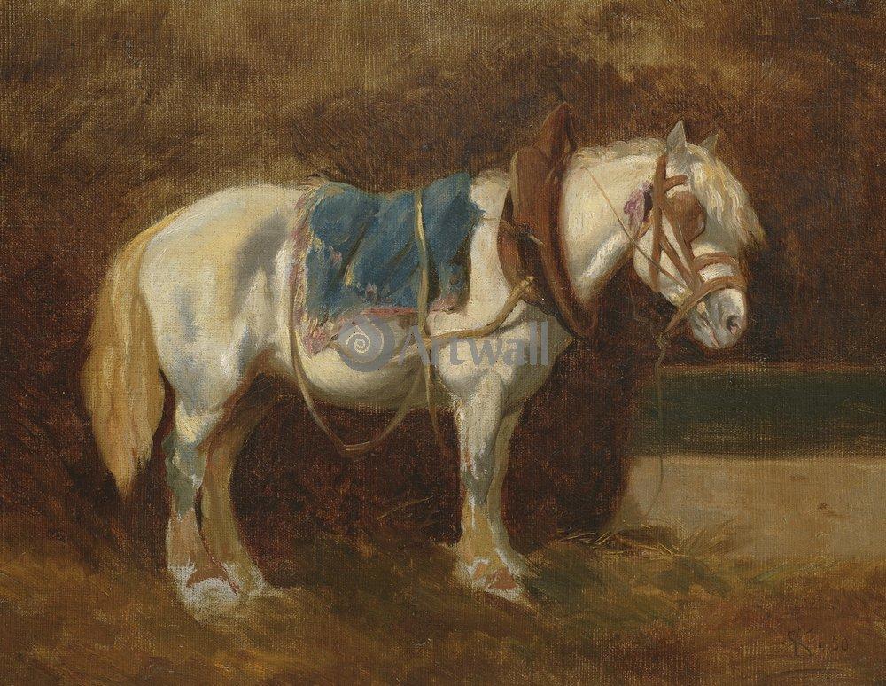 Лошади и всадники, картина Коллер Рудольф «Оседланная лошадь»Лошади и всадники<br>Репродукция на холсте или бумаге. Любого нужного вам размера. В раме или без. Подвес в комплекте. Трехслойная надежная упаковка. Доставим в любую точку России. Вам осталось только повесить картину на стену!<br>