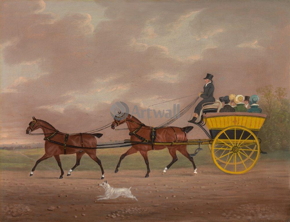 Лошади и всадники, картина Купер Эдвин «Повозка, запряденная двумя лошадьми»Лошади и всадники<br>Репродукция на холсте или бумаге. Любого нужного вам размера. В раме или без. Подвес в комплекте. Трехслойная надежная упаковка. Доставим в любую точку России. Вам осталось только повесить картину на стену!<br>