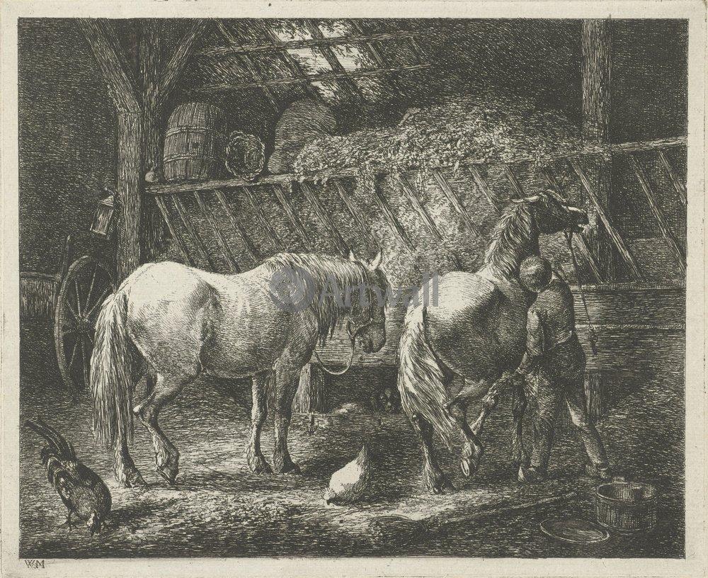 Лошади и всадники, картина Мурес Кристиан «Конюх с двумя лошадьми»Лошади и всадники<br>Репродукция на холсте или бумаге. Любого нужного вам размера. В раме или без. Подвес в комплекте. Трехслойная надежная упаковка. Доставим в любую точку России. Вам осталось только повесить картину на стену!<br>