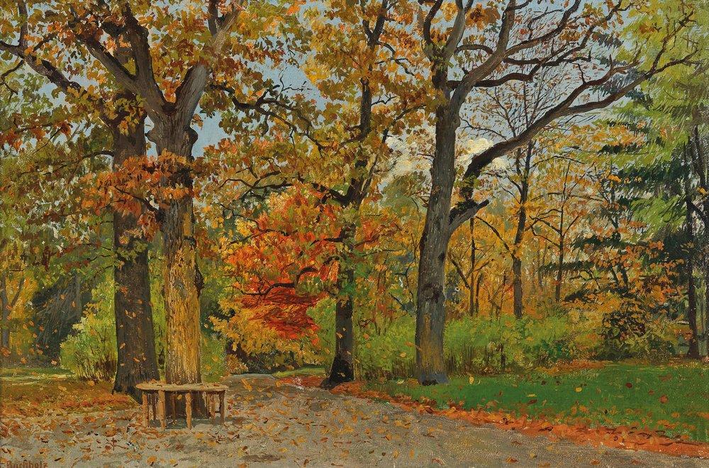 Пейзаж разное Карл Бухгольц «Осенний парк»Пейзаж разное<br>Репродукция на холсте или бумаге. Любого нужного вам размера. В раме или без. Подвес в комплекте. Трехслойная надежная упаковка. Доставим в любую точку России. Вам осталось только повесить картину на стену!<br>