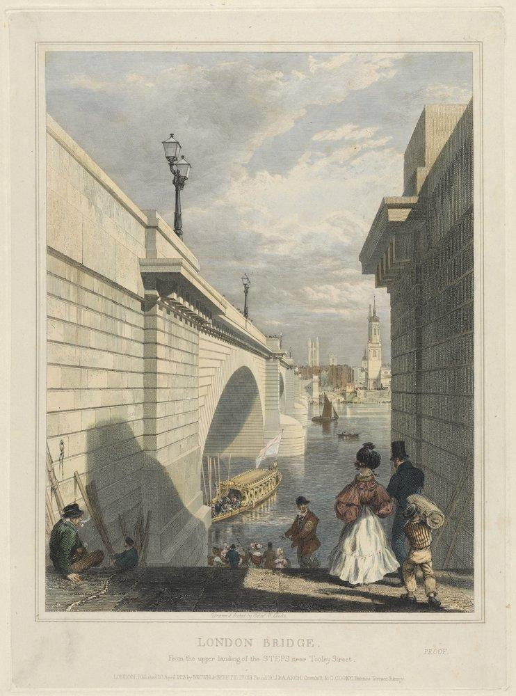 Искусство, картина Кук Эдвард «Лондонский мост», 20x27 см, на бумагеЛондон - старинная живопись и графика<br>Постер на холсте или бумаге. Любого нужного вам размера. В раме или без. Подвес в комплекте. Трехслойная надежная упаковка. Доставим в любую точку России. Вам осталось только повесить картину на стену!<br>
