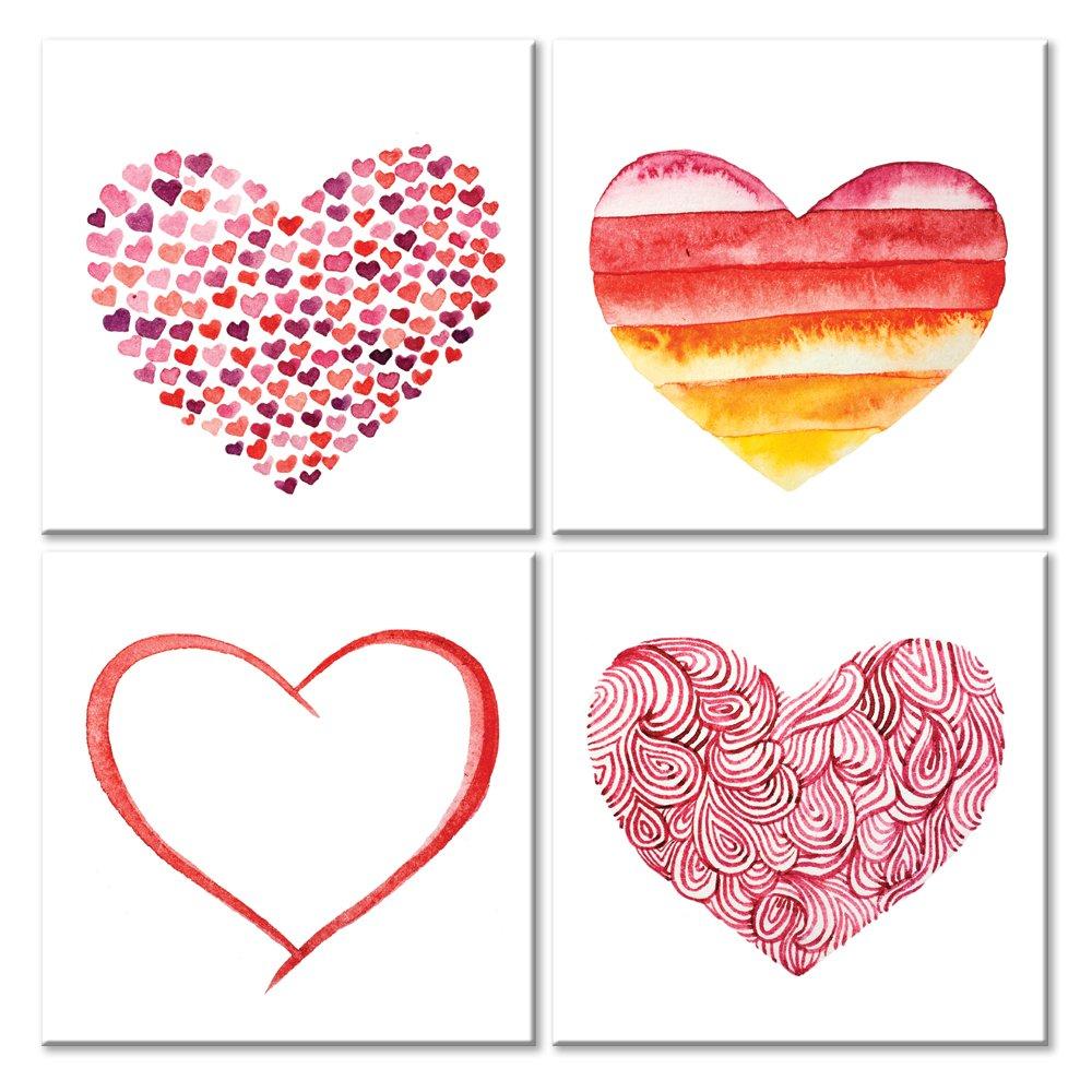 Модульная картина «4 сердца»Любовь<br>Модульная картина на натуральном холсте и деревянном подрамнике. Подвес в комплекте. Трехслойная надежная упаковка. Доставим в любую точку России. Вам осталось только повесить картину на стену!<br>