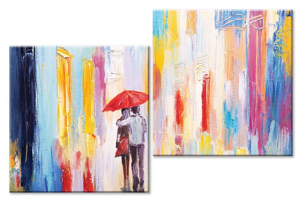 Модульная картина «Двое»Любовь<br>Модульная картина на натуральном холсте и деревянном подрамнике. Подвес в комплекте. Трехслойная надежная упаковка. Доставим в любую точку России. Вам осталось только повесить картину на стену!<br>
