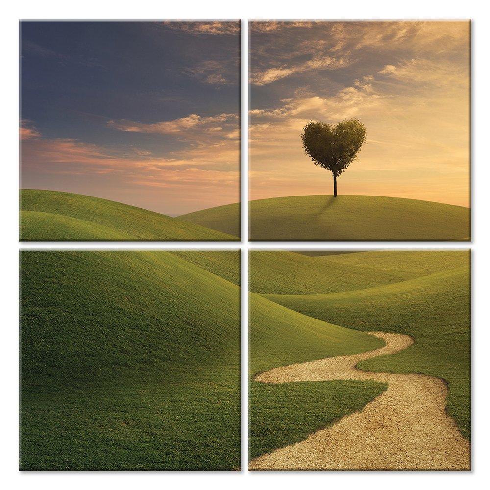 Модульная картина «Путь к любви», 50x50 см, модульная картинаЛюбовь<br>Модульная картина на натуральном холсте и деревянном подрамнике. Подвес в комплекте. Трехслойная надежная упаковка. Доставим в любую точку России. Вам осталось только повесить картину на стену!<br>