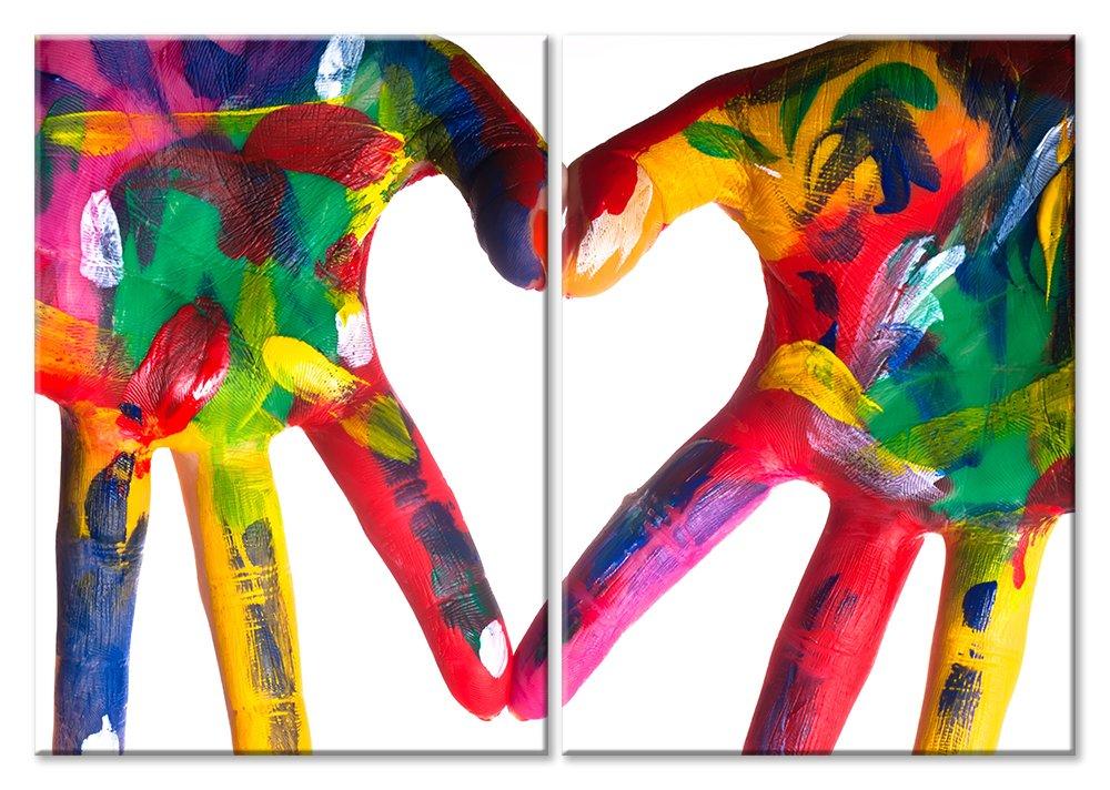 Модульная картина «Руки любви»Любовь<br>Модульная картина на натуральном холсте и деревянном подрамнике. Подвес в комплекте. Трехслойная надежная упаковка. Доставим в любую точку России. Вам осталось только повесить картину на стену!<br>
