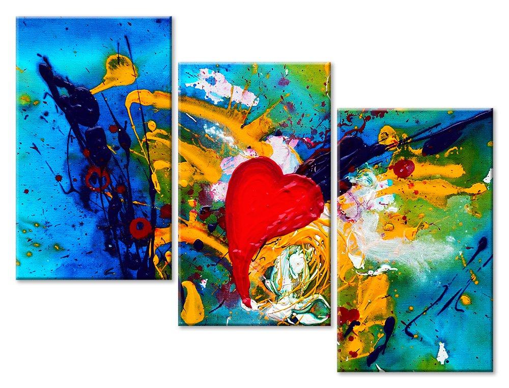 Модульная картина «Абстрактная любовь»Любовь<br>Модульная картина на натуральном холсте и деревянном подрамнике. Подвес в комплекте. Трехслойная надежная упаковка. Доставим в любую точку России. Вам осталось только повесить картину на стену!<br>