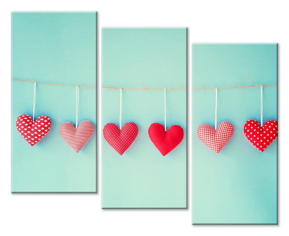 Модульная картина «Сердца»Любовь<br>Модульная картина на натуральном холсте и деревянном подрамнике. Подвес в комплекте. Трехслойная надежная упаковка. Доставим в любую точку России. Вам осталось только повесить картину на стену!<br>