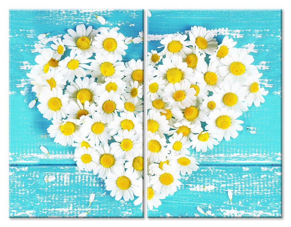 Модульная картина «Ромашковое сердце»Любовь<br>Модульная картина на натуральном холсте и деревянном подрамнике. Подвес в комплекте. Трехслойная надежная упаковка. Доставим в любую точку России. Вам осталось только повесить картину на стену!<br>