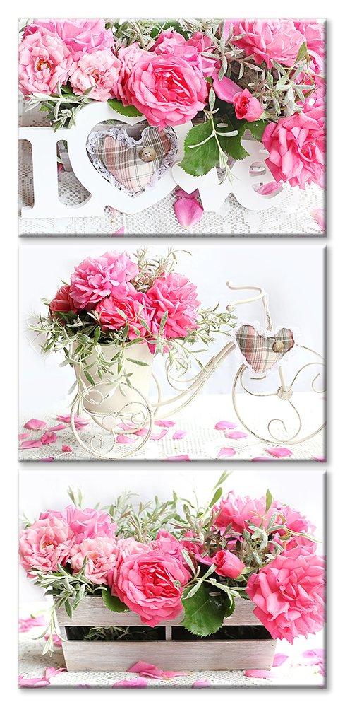 Модульная картина «Розовая композиция любви», 50x102 см, модульная картинаЛюбовь<br>Модульная картина на натуральном холсте и деревянном подрамнике. Подвес в комплекте. Трехслойная надежная упаковка. Доставим в любую точку России. Вам осталось только повесить картину на стену!<br>