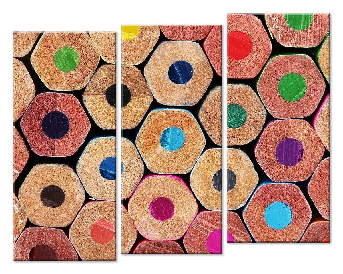 Модульная картина «Цветные карандаши»Абстракция<br>Модульная картина на натуральном холсте и деревянном подрамнике. Подвес в комплекте. Трехслойная надежная упаковка. Доставим в любую точку России. Вам осталось только повесить картину на стену!<br>