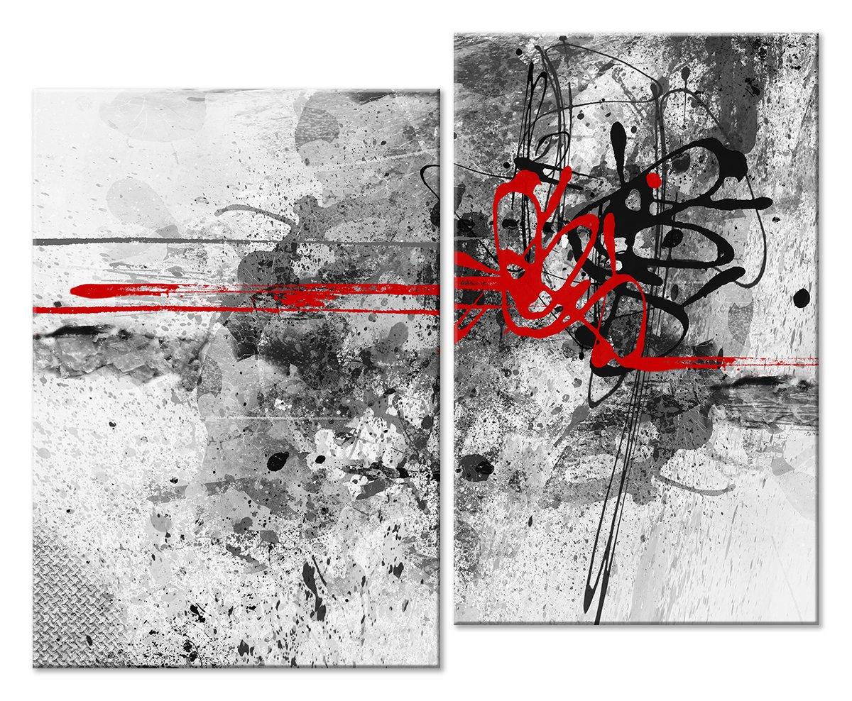 Модульная картина «Черное и красное»Абстракция<br>Модульная картина на натуральном холсте и деревянном подрамнике. Подвес в комплекте. Трехслойная надежная упаковка. Доставим в любую точку России. Вам осталось только повесить картину на стену!<br>