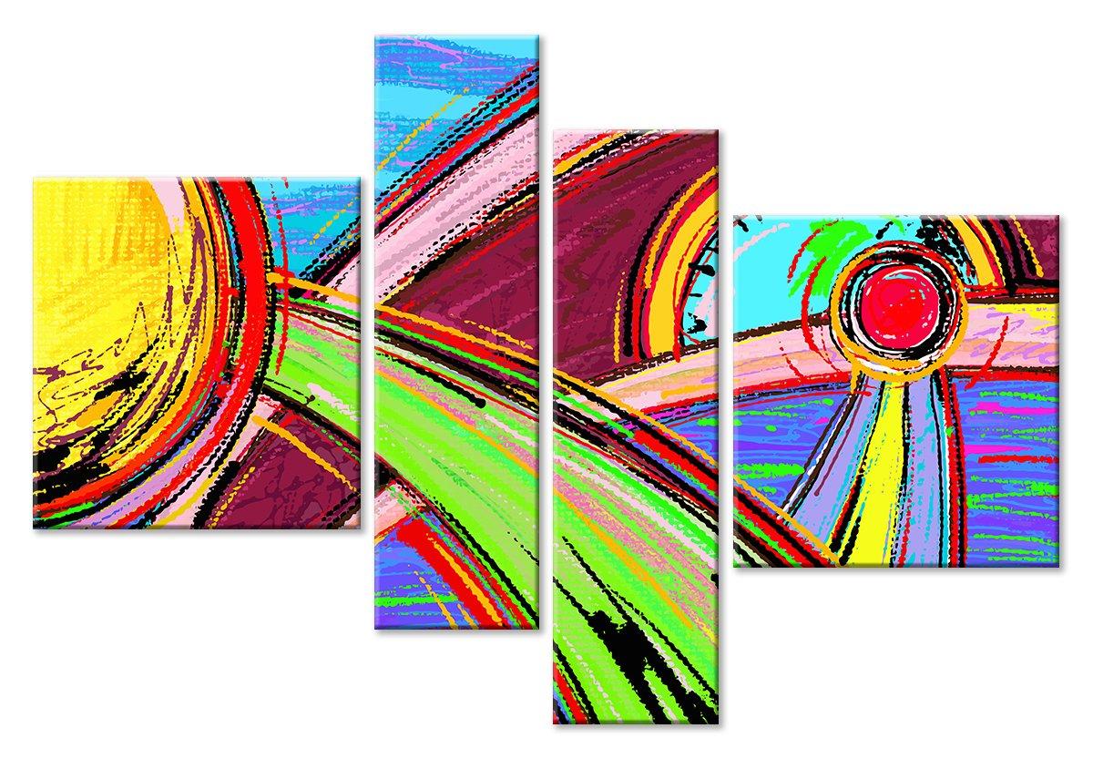 Модульная картина «Солнечные лучи»Абстракция<br>Модульная картина на натуральном холсте и деревянном подрамнике. Подвес в комплекте. Трехслойная надежная упаковка. Доставим в любую точку России. Вам осталось только повесить картину на стену!<br>