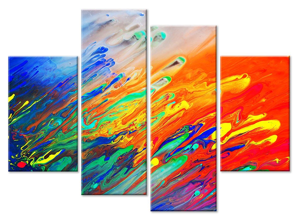 Модульная картина «Палитра художника»Абстракция<br>Модульная картина на натуральном холсте и деревянном подрамнике. Подвес в комплекте. Трехслойная надежная упаковка. Доставим в любую точку России. Вам осталось только повесить картину на стену!<br>