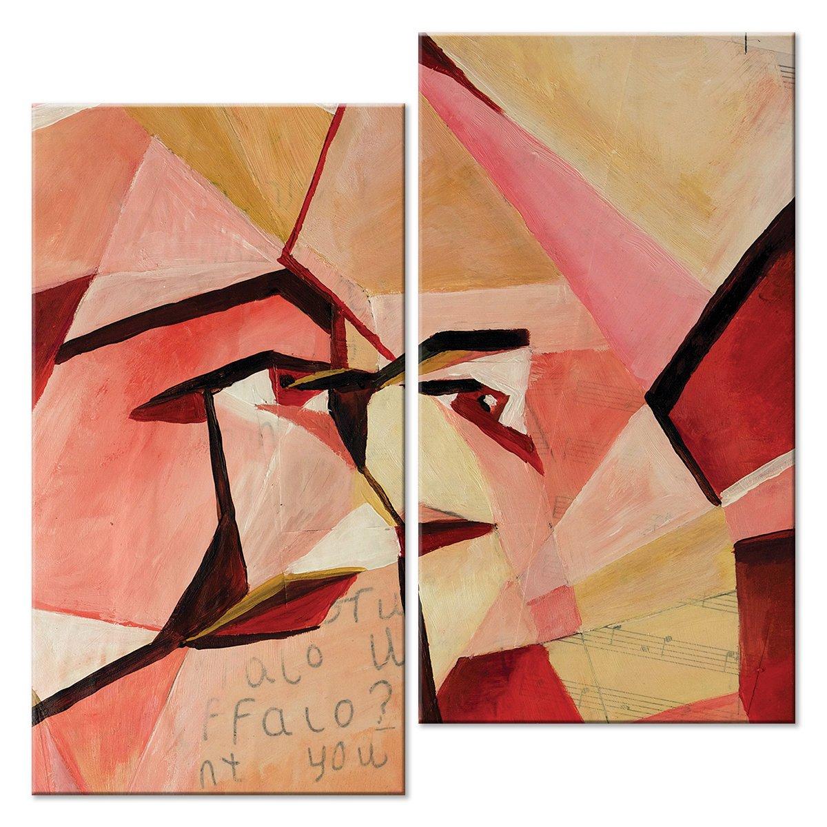 Модульная картина «По мотивам Пикассо»Абстракция<br>Модульная картина на натуральном холсте и деревянном подрамнике. Подвес в комплекте. Трехслойная надежная упаковка. Доставим в любую точку России. Вам осталось только повесить картину на стену!<br>