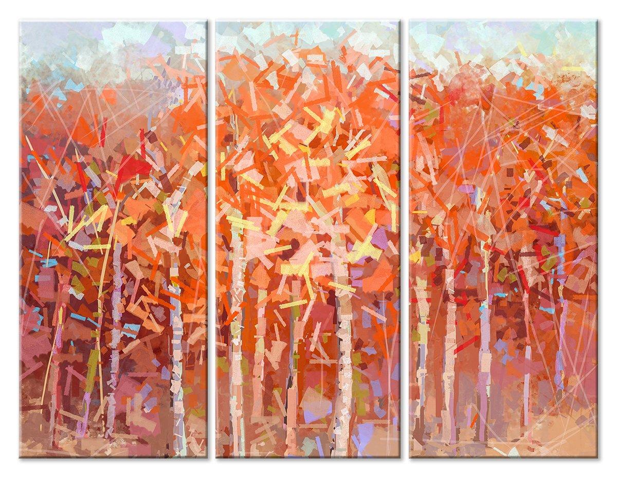 Модульная картина «Осенний лес»Абстракция<br>Модульная картина на натуральном холсте и деревянном подрамнике. Подвес в комплекте. Трехслойная надежная упаковка. Доставим в любую точку России. Вам осталось только повесить картину на стену!<br>