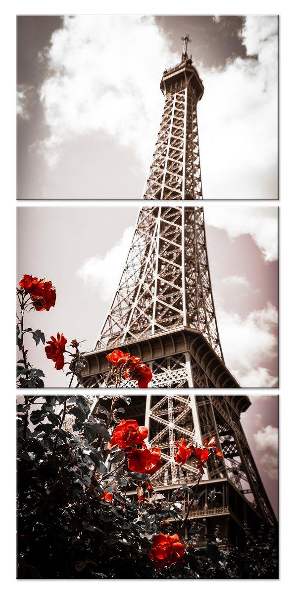 Модульная картина «Эйфелева башня»Города<br>Модульная картина на натуральном холсте и деревянном подрамнике. Подвес в комплекте. Трехслойная надежная упаковка. Доставим в любую точку России. Вам осталось только повесить картину на стену!<br>