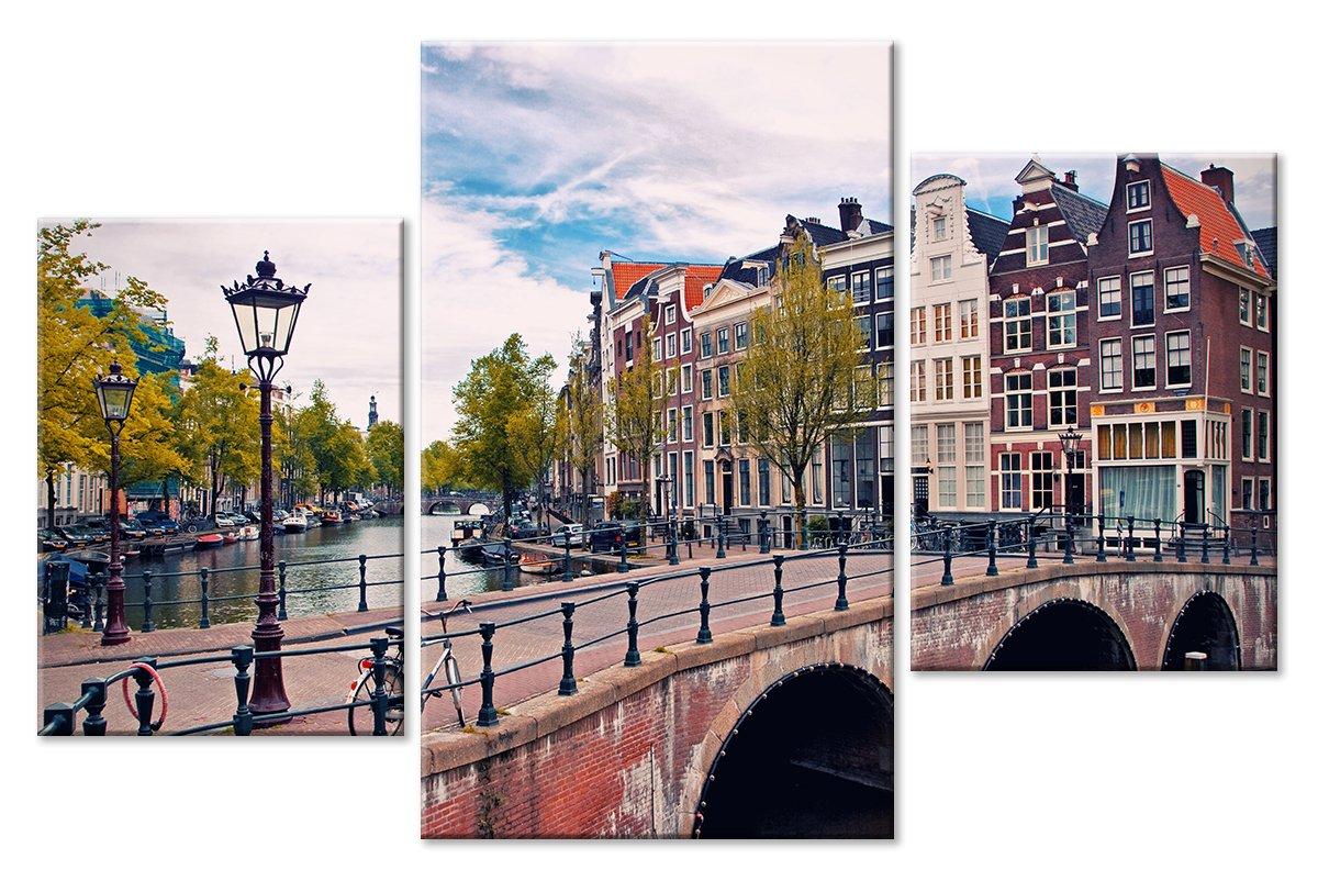 Модульная картина «Амстердам»Города<br>Модульная картина на натуральном холсте и деревянном подрамнике. Подвес в комплекте. Трехслойная надежная упаковка. Доставим в любую точку России. Вам осталось только повесить картину на стену!<br>