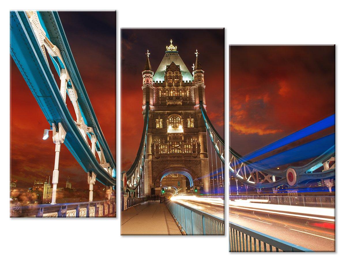 Модульная картина «Мост над Темзой»Города<br>Модульная картина на натуральном холсте и деревянном подрамнике. Подвес в комплекте. Трехслойная надежная упаковка. Доставим в любую точку России. Вам осталось только повесить картину на стену!<br>