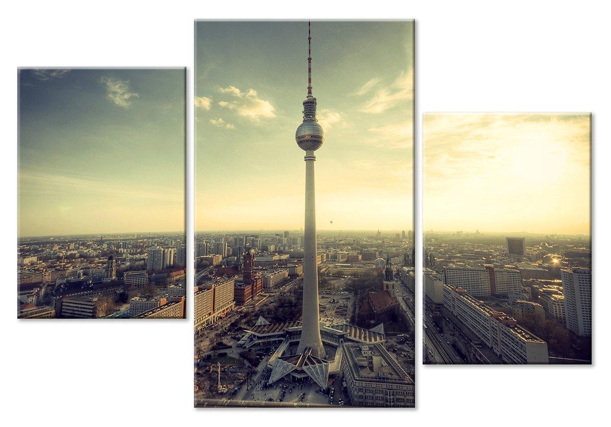 Модульная картина «Телебашня в Берлине»Города<br>Модульная картина на натуральном холсте и деревянном подрамнике. Подвес в комплекте. Трехслойная надежная упаковка. Доставим в любую точку России. Вам осталось только повесить картину на стену!<br>