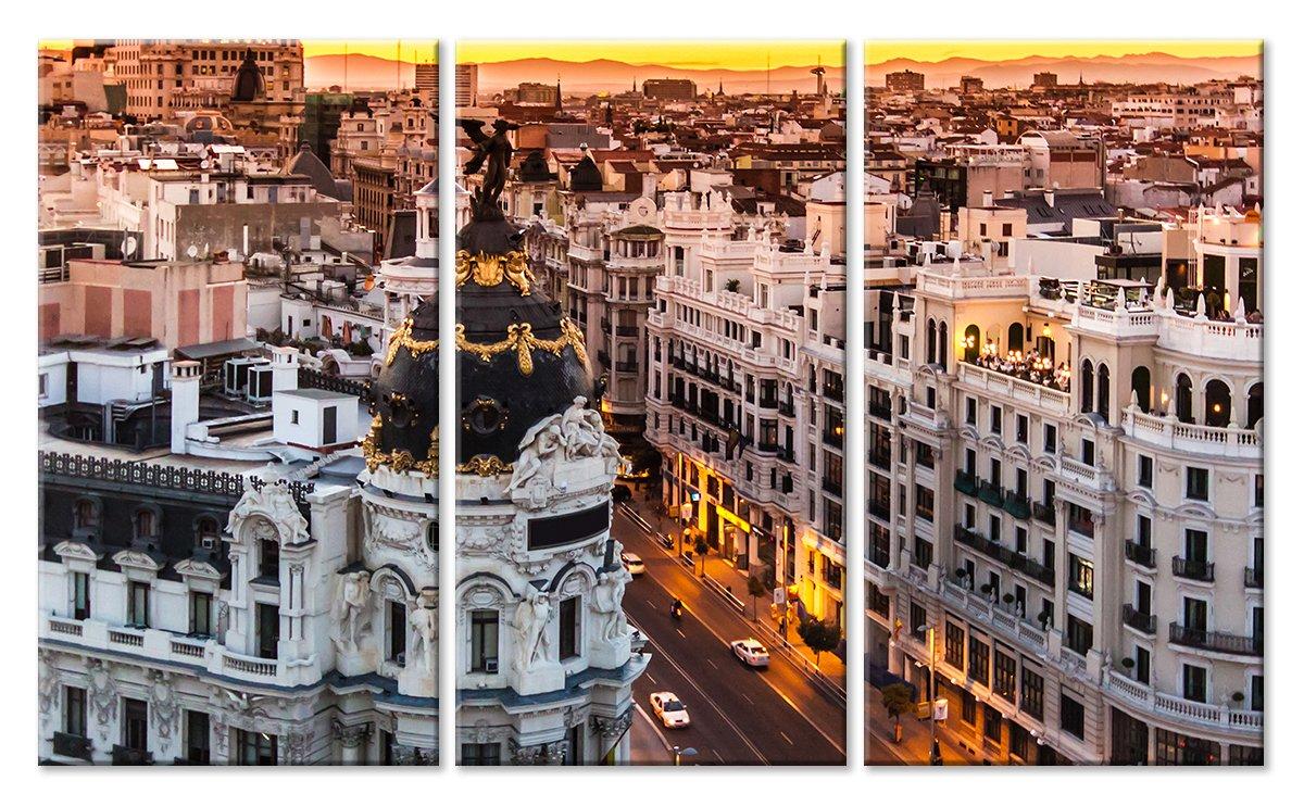 Модульная картина «Мадрид летним вечером»Города<br>Модульная картина на натуральном холсте и деревянном подрамнике. Подвес в комплекте. Трехслойная надежная упаковка. Доставим в любую точку России. Вам осталось только повесить картину на стену!<br>