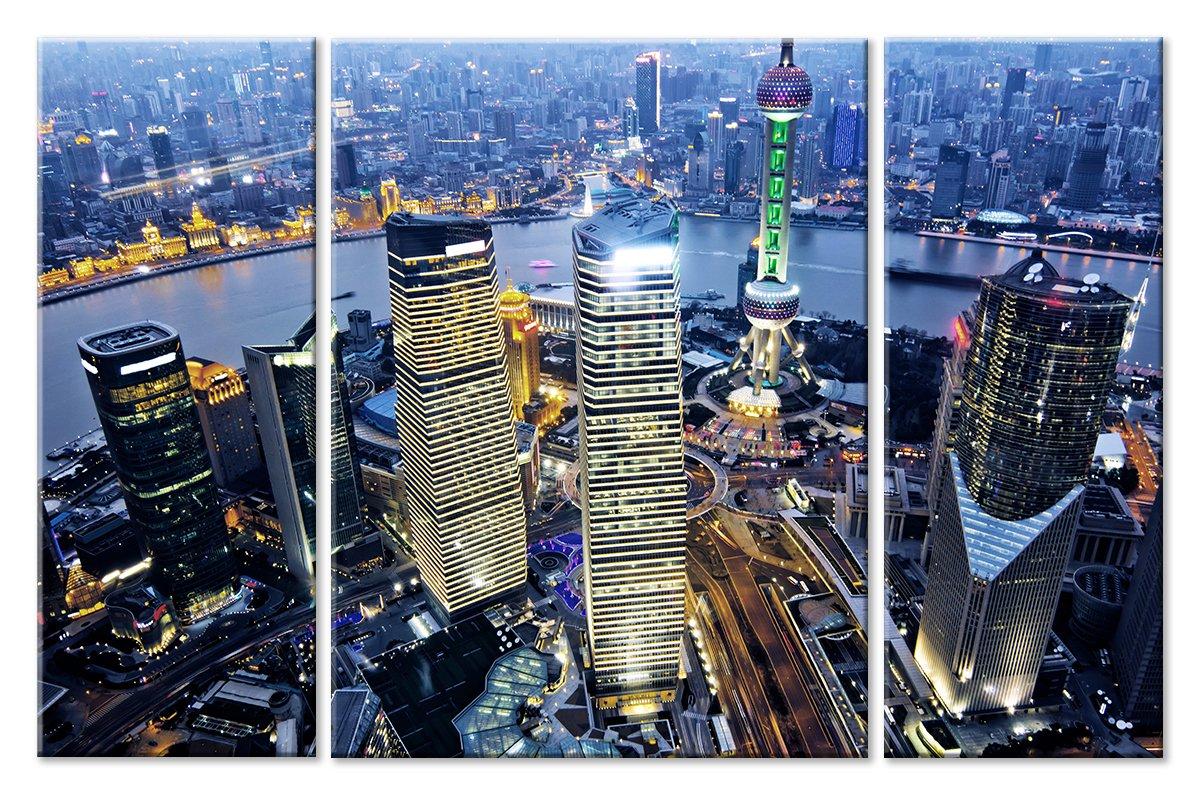 Модульная картина «Шанхай»Города<br>Модульная картина на натуральном холсте и деревянном подрамнике. Подвес в комплекте. Трехслойная надежная упаковка. Доставим в любую точку России. Вам осталось только повесить картину на стену!<br>